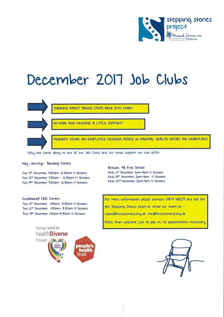 December Job Clubs